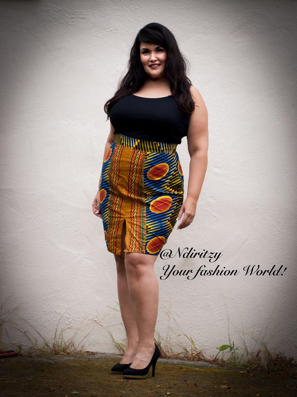 53696aa9daeae African print pencil skirt - NdiRitzy