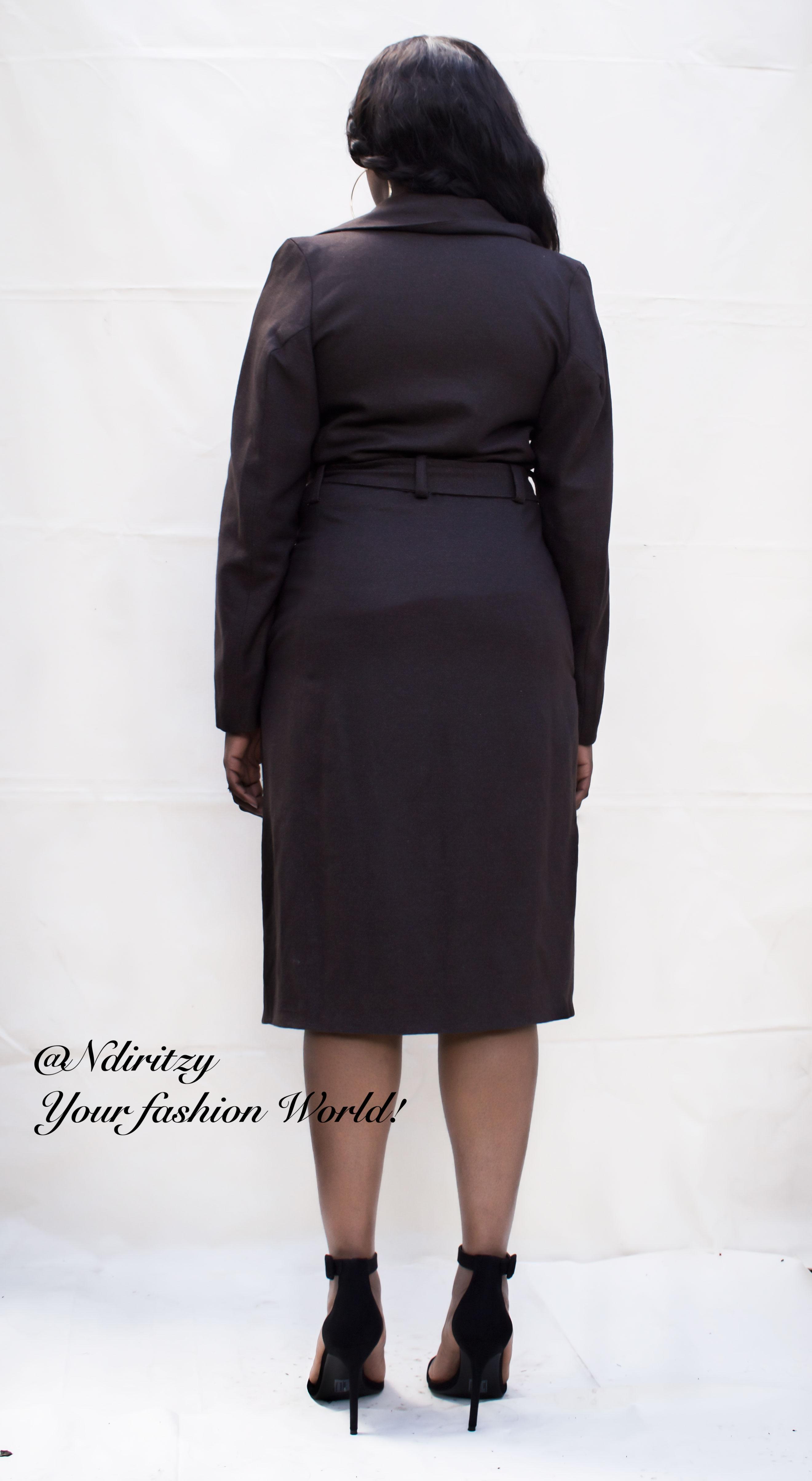 a589db73003c4 Asymmetric tweed coat dress - NdiRitzy