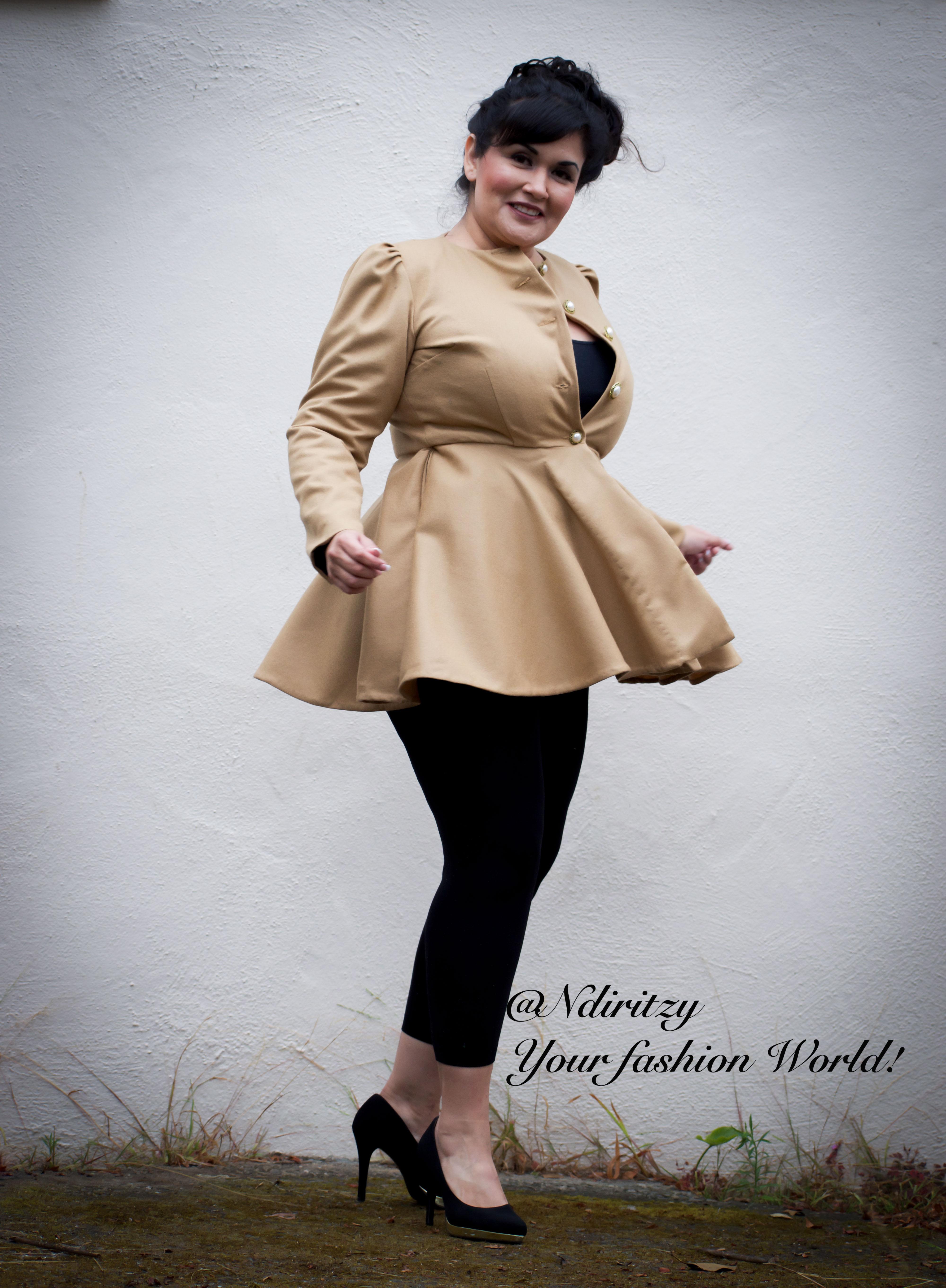 d90fc9a9a1af3 Brown flannel wool coat - NdiRitzy