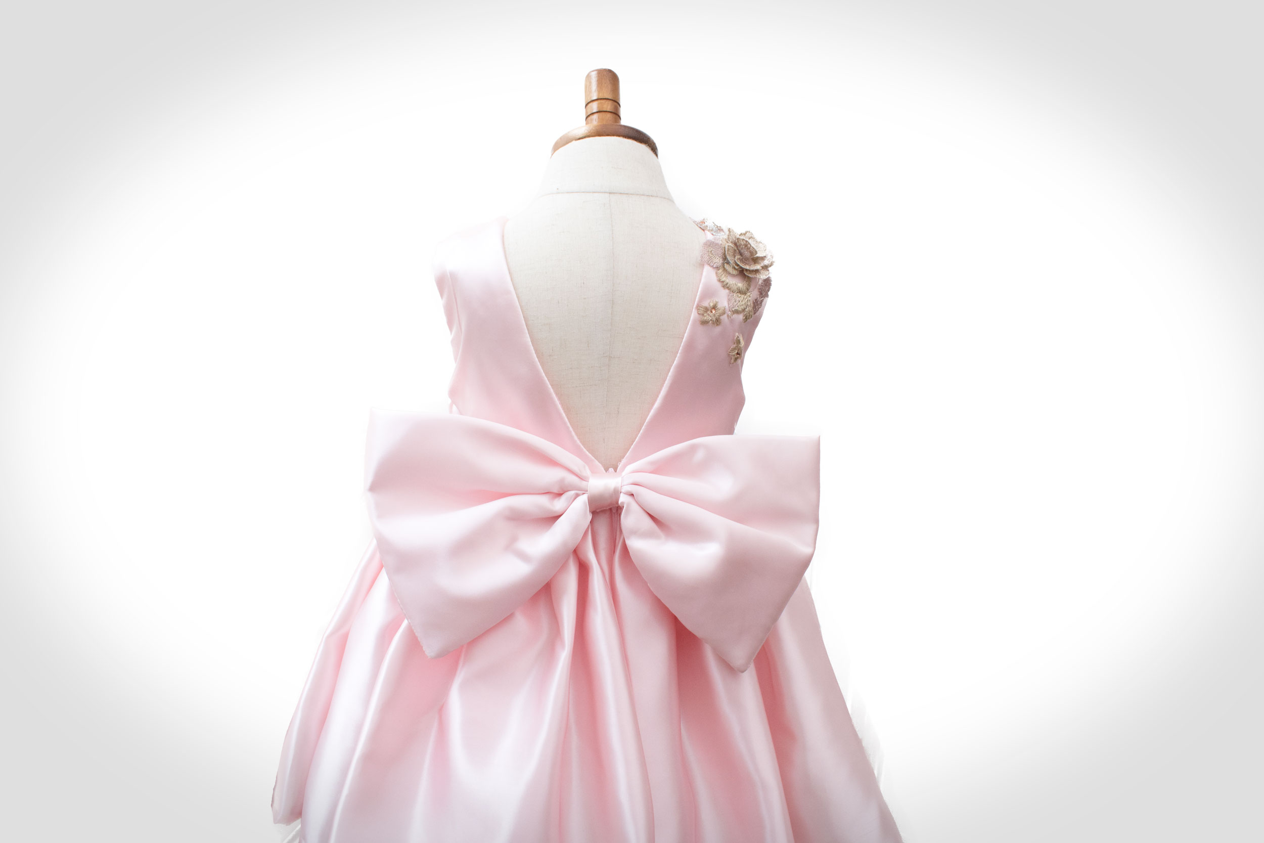 Pink Couture Flower Girl Dress Ndiritzy