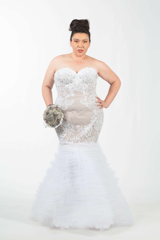 Nude Couture Plus Size Wedding Dress - NdiRitzy
