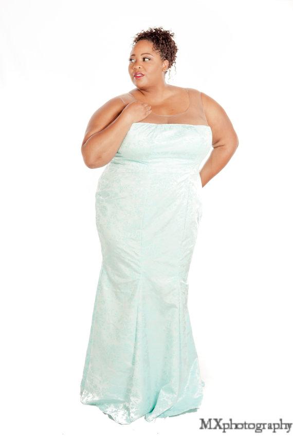 Plus size Illusion Dress – NdiRitzy